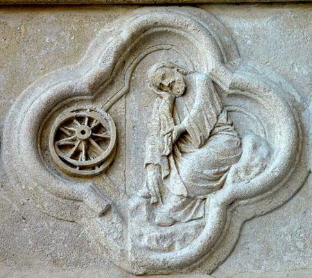 12 AMIENS EZEKIEL'S DREAM-VISION OF A WHEEL